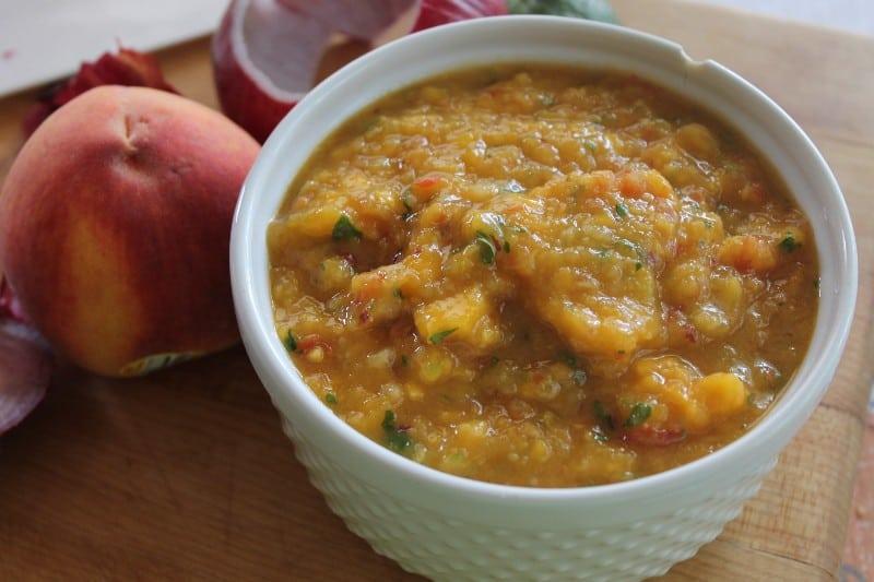 peach salsa mango pork
