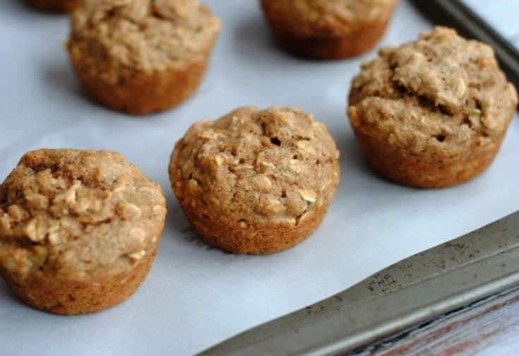 Oatmeal Banana Applesauce Muffins horiz