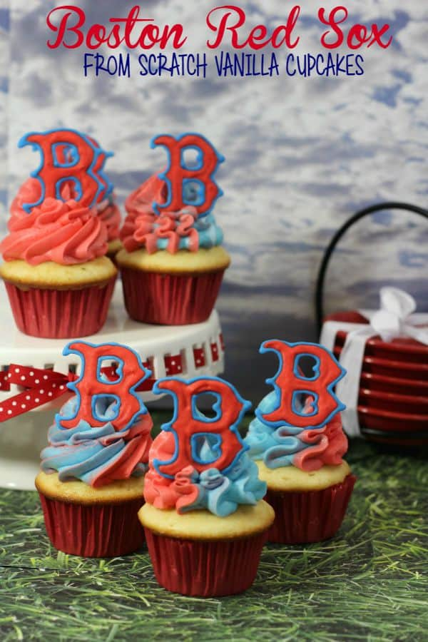 Boston Red Sox Cupcakes