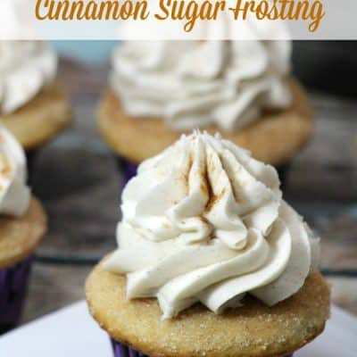 Brown Butter Cupcakes with Cinnamon Sugar Frosting