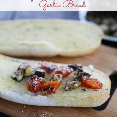 Cheesy Zucchini and Tomato Garlic Bread