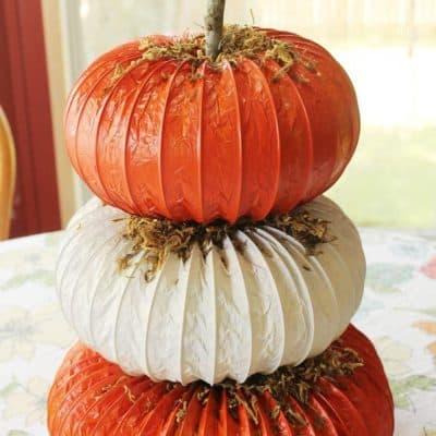Pumpkin Dryer Vent Craft