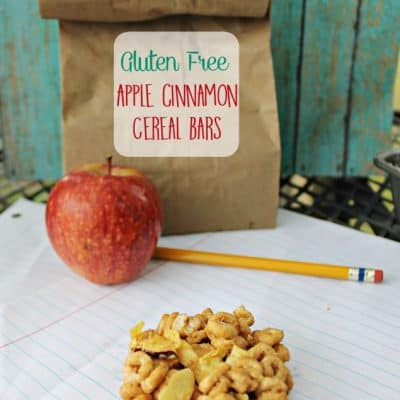 Apple Cinnamon Gluten Free Cereal Bars