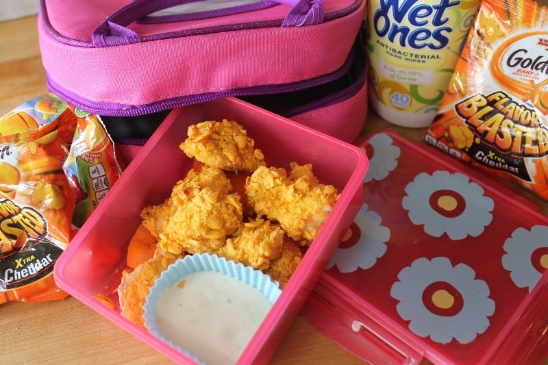 goldfish coated chicken nuggets