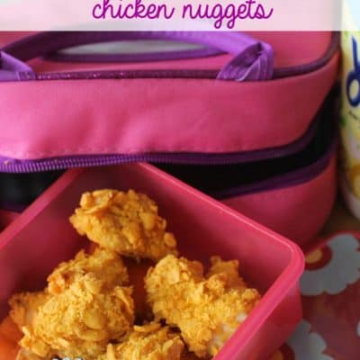 Goldfish Crusted Chicken Nuggets