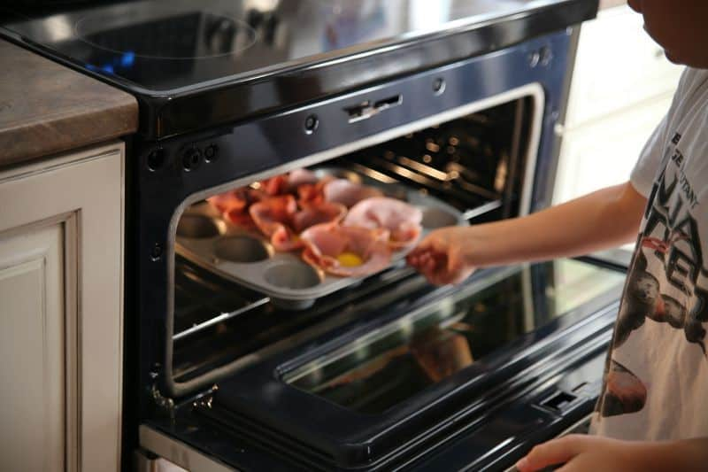 ham-egg-cups-oven