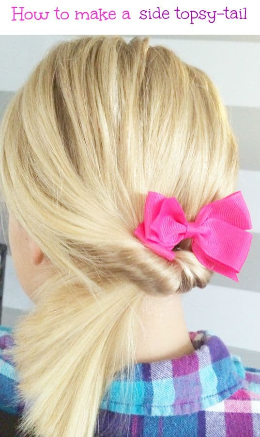 how-to-make-side-topsy-tail-simple-pretty-hairstyle