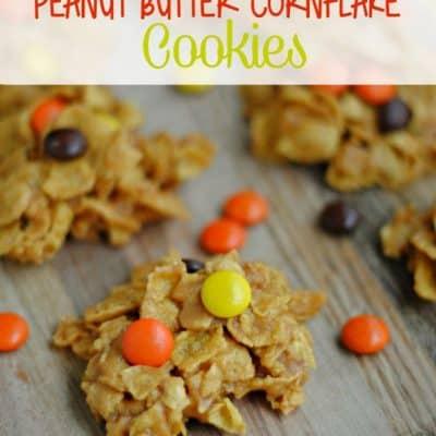 No Bake Peanut Butter Cornflake Cookies
