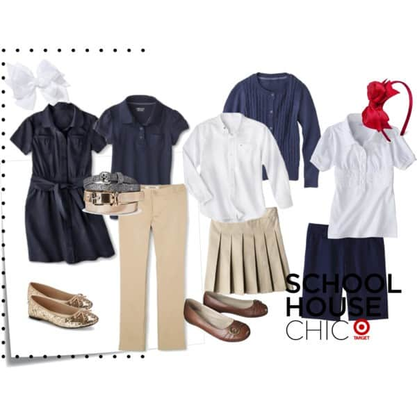 polyvore target school uniforms girls