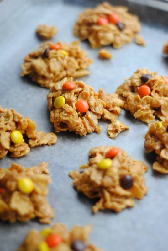 reeses pb cornflake cookies tray