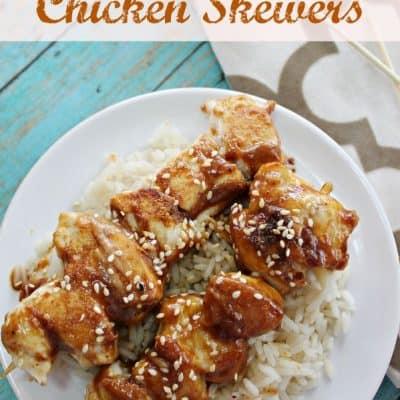 Thai Peanut Chicken Skewers