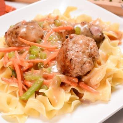 Skillet Meatball Stew