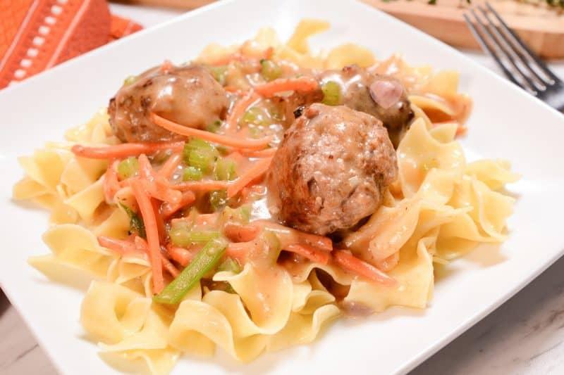 Cast Iron Skillet Meatball Stew Recipe