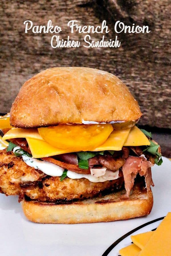 Panko & French Onion Chicken Cutlet Sandwich-label-vert