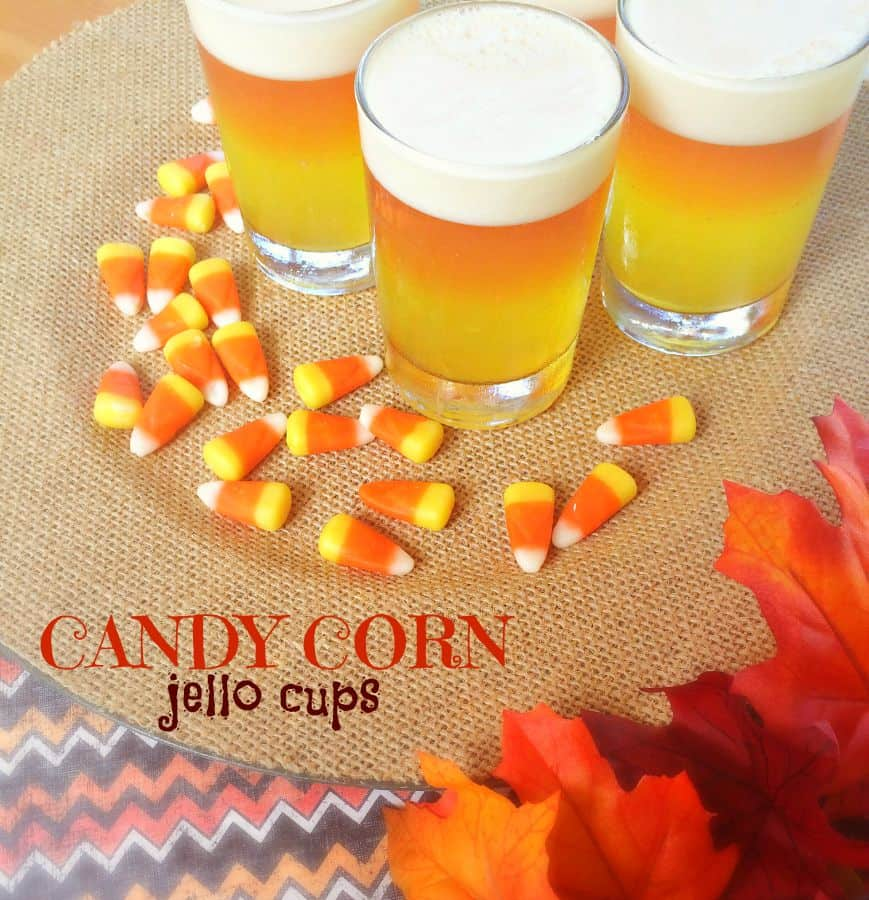 candy corn jello cups label