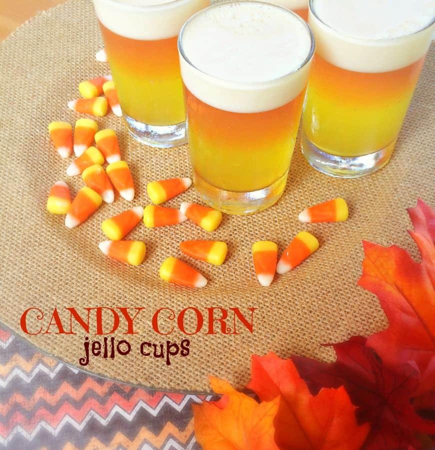 candy corn jello cups label