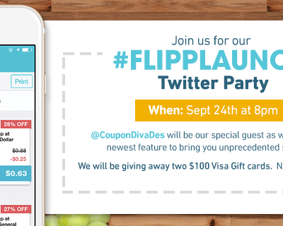 Join us for the #Flipplaunch #twitterparty 9/24