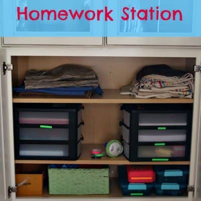 Family Homework Station