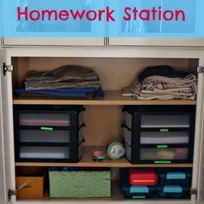 Family Homework Station