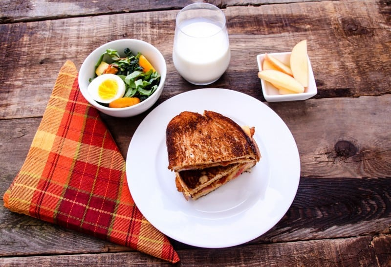 Ham, Bacon & Roasted Apple Grilled Cheese Sandwich-8