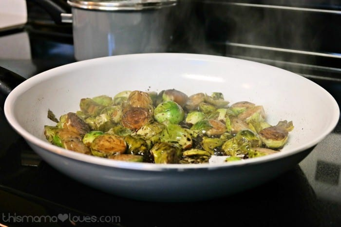 Pan Seared Brussels Sprout Salad