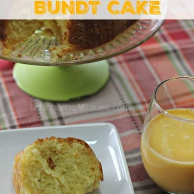 Orange Creamsicle Bundt Cake with Orange Glaze