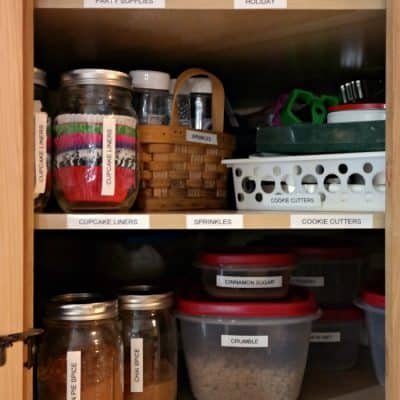 How I Organized My Baking Supplies