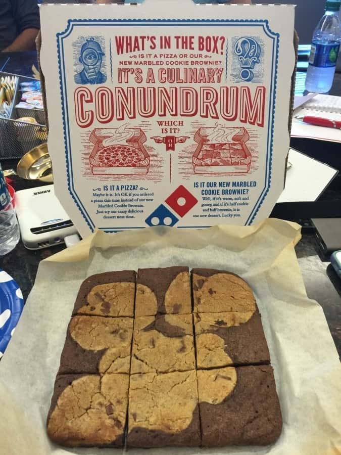 Dominos marbled cookie brownie