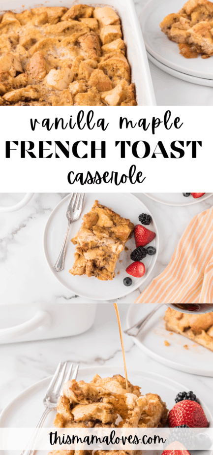 vanilla maple french toast casserole
