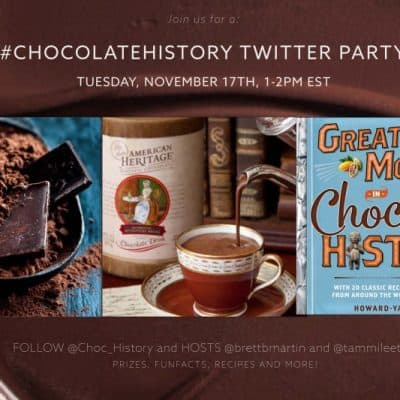 Join us for the #ChocolateHistory #TwitterParty 11/17