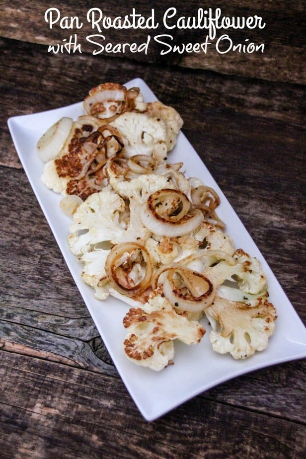 Pan Roasted Cauliflower with Seared Sweet Onion label