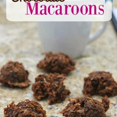 IBS Friendly Chocolate Macaroons