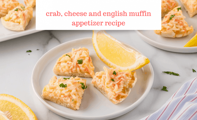 Crabbies appetizers- crab and cheese recipe baked on english muffins