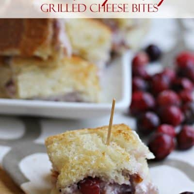 Cranberry Turkey Grilled Cheese Bites