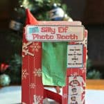 elf on the shelf photo booth label