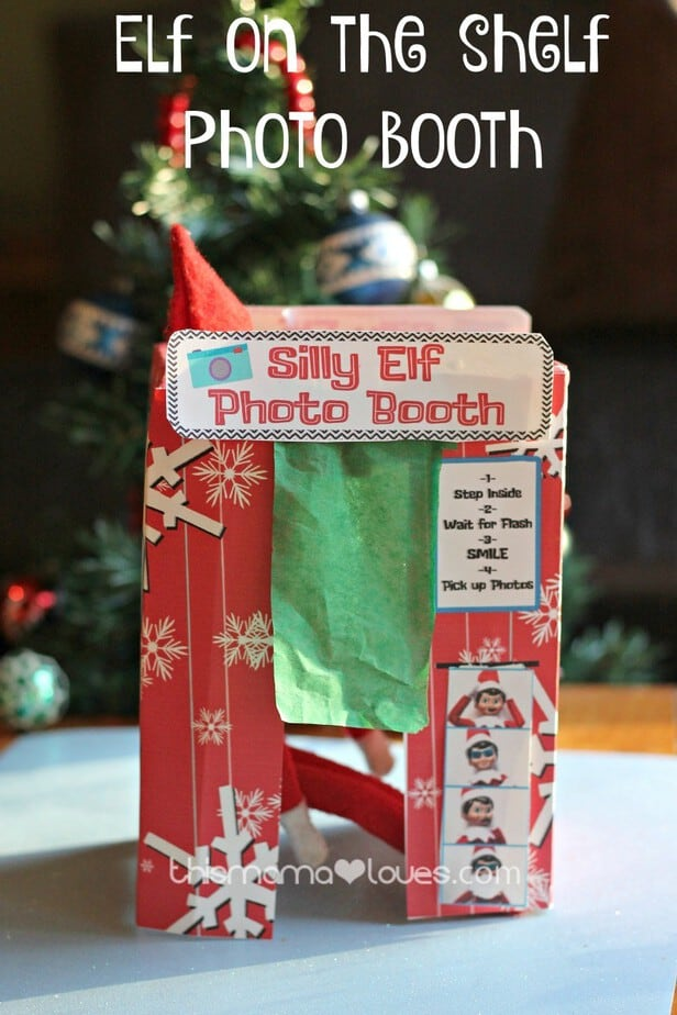 picture about Elf on the Shelf Printable Props referred to as Elf upon the Shelf Image Booth- Printable Elf entertaining! This Mama