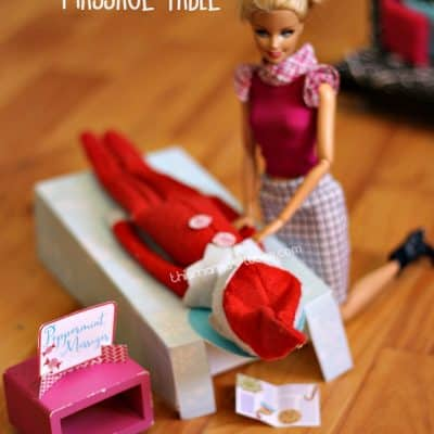 Elf on the Shelf Massage Table Printable Elf on the Shelf Idea