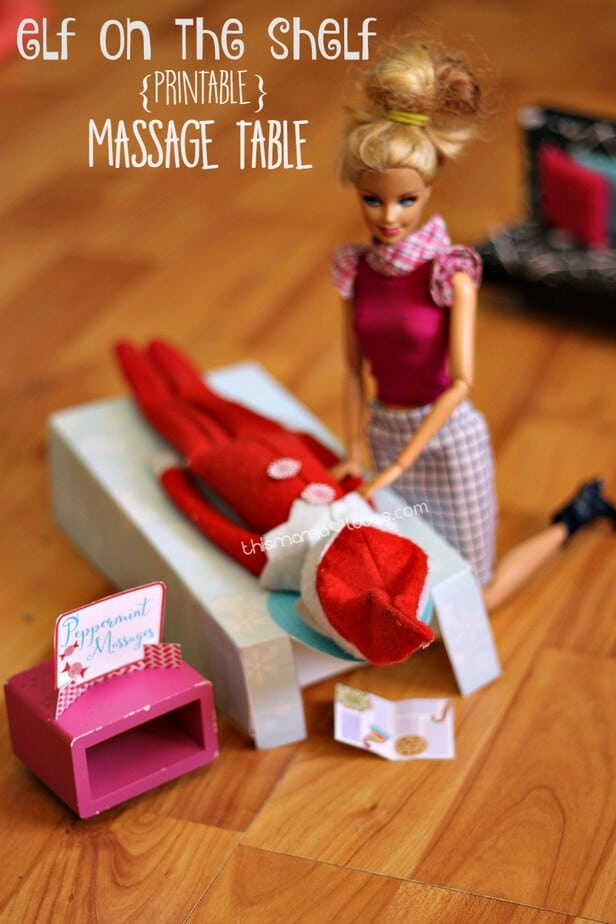 elf on the shelf massage table pin