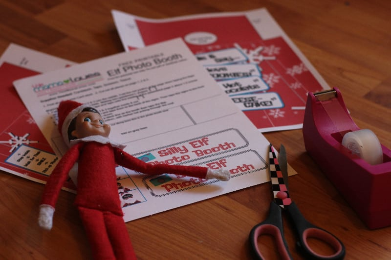 graphic about Elf on the Shelf Printable Props named Elf upon the Shelf Picture Booth- Printable Elf exciting! This Mama