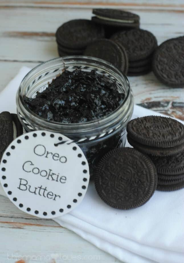 oreo cookie butter tag label