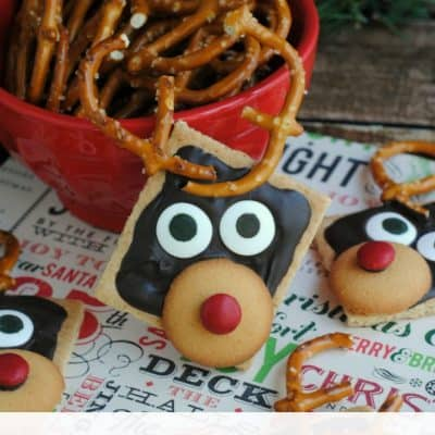 Graham Cracker Reindeer Semi-Homemade Festive Treats