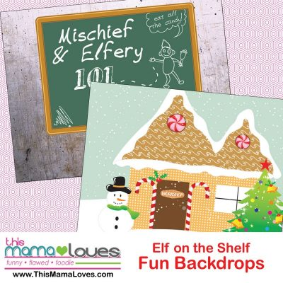 Super simple Elf on the Shelf Ideas: Backdrops