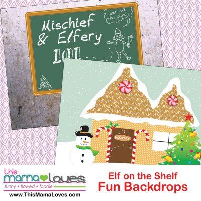 Super simple Elf on the Shelf Ideas: Backdrops