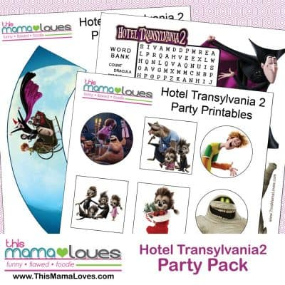 Hotel Transylvania 2 Printables & In Home Release 