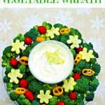 festive holiday appetizer vegetable wreath label