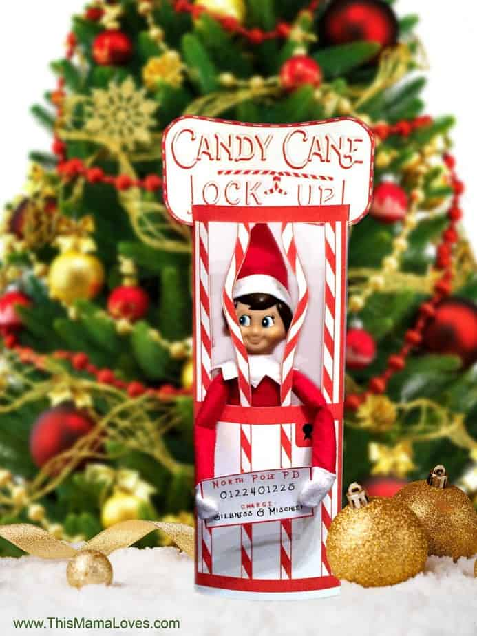 Free Elf on the Shelf Printable. Elf on the Shelf Candy Cane Jail