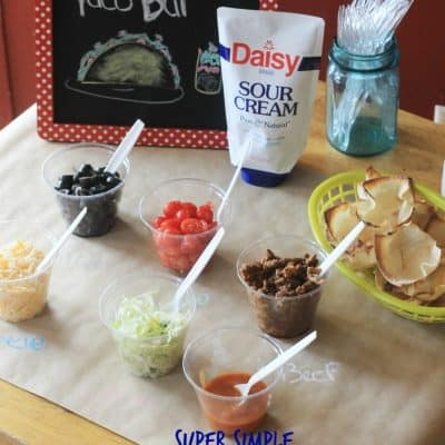 Kids in The Kitchen: Taco Bar for an easy weeknight dinner