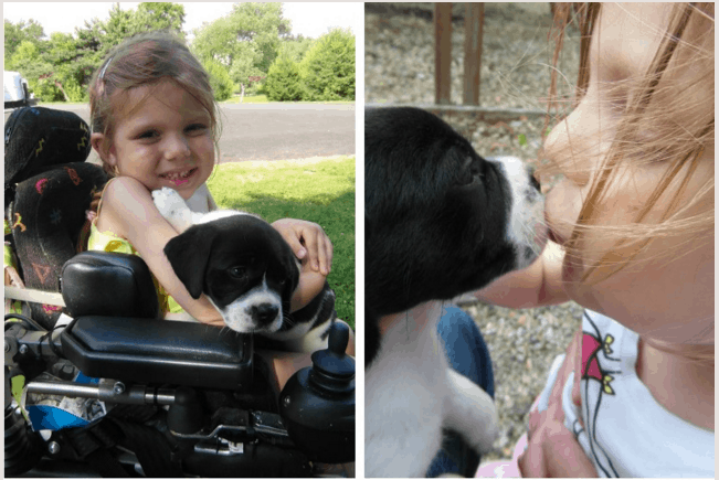 vivienne and her puppy