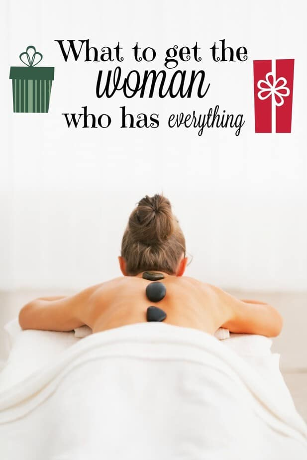 woman who has everything label