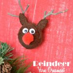 yarn ball reindeer ornaments label